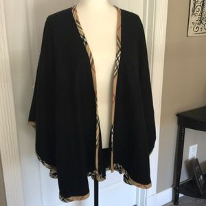 Lord and Taylor black Ruana wrap